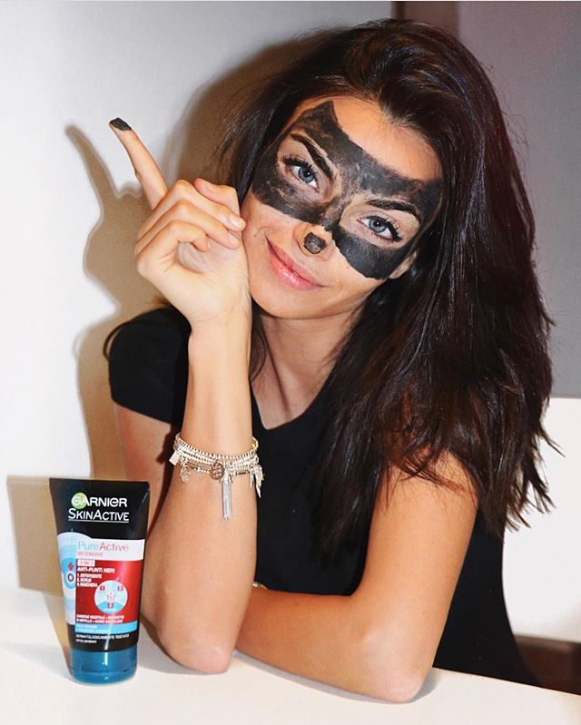 @Nicole mazzocato for @garnieritalia #maskinblack # pureactive #garnier